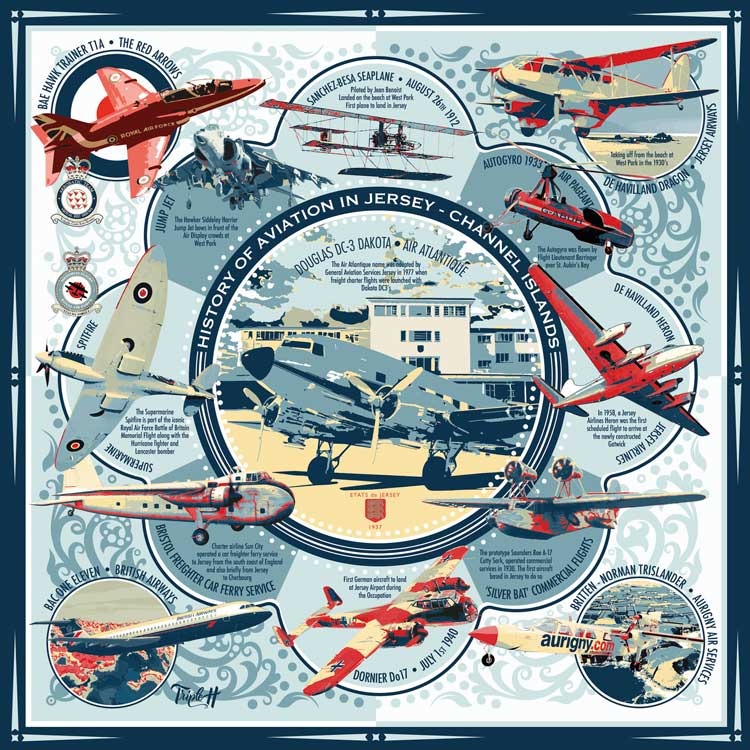 TripleH Limited Edition Print Jersey Aviation