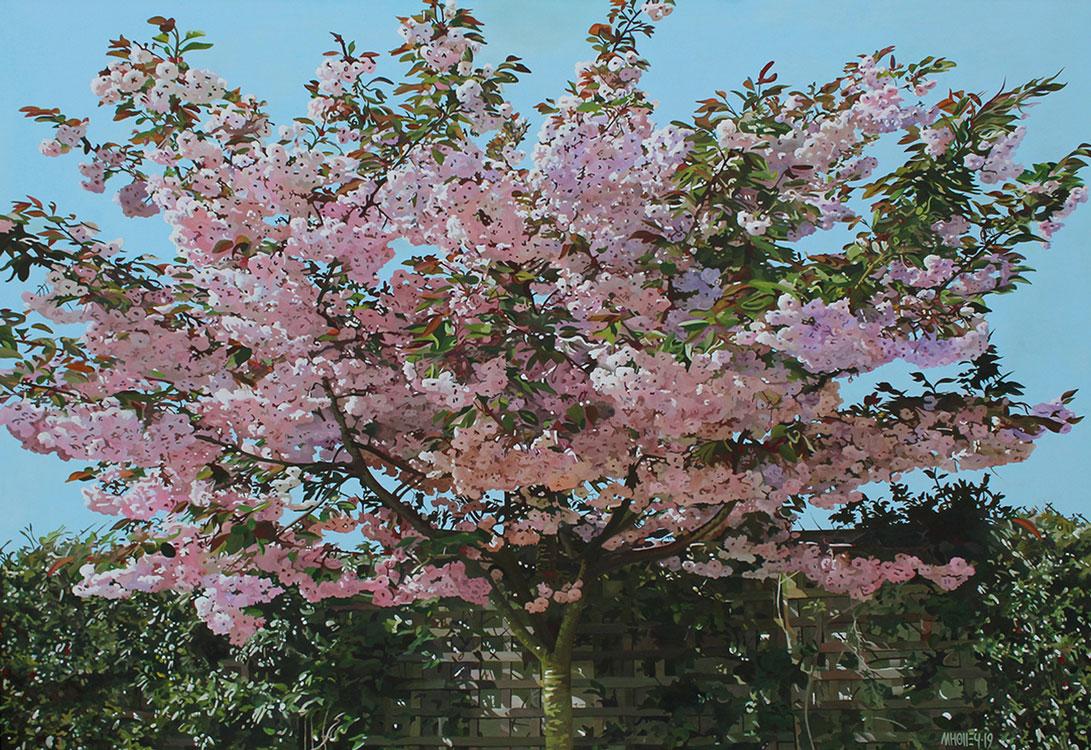 TripleH Painting Cherry Tree