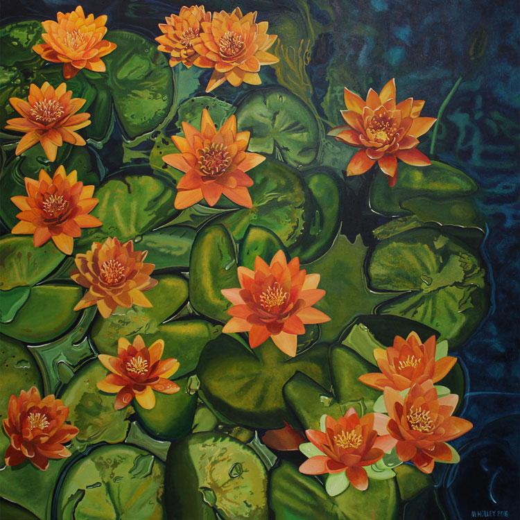 TripleH Painting Lillies